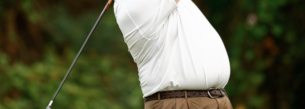 fat man golfing